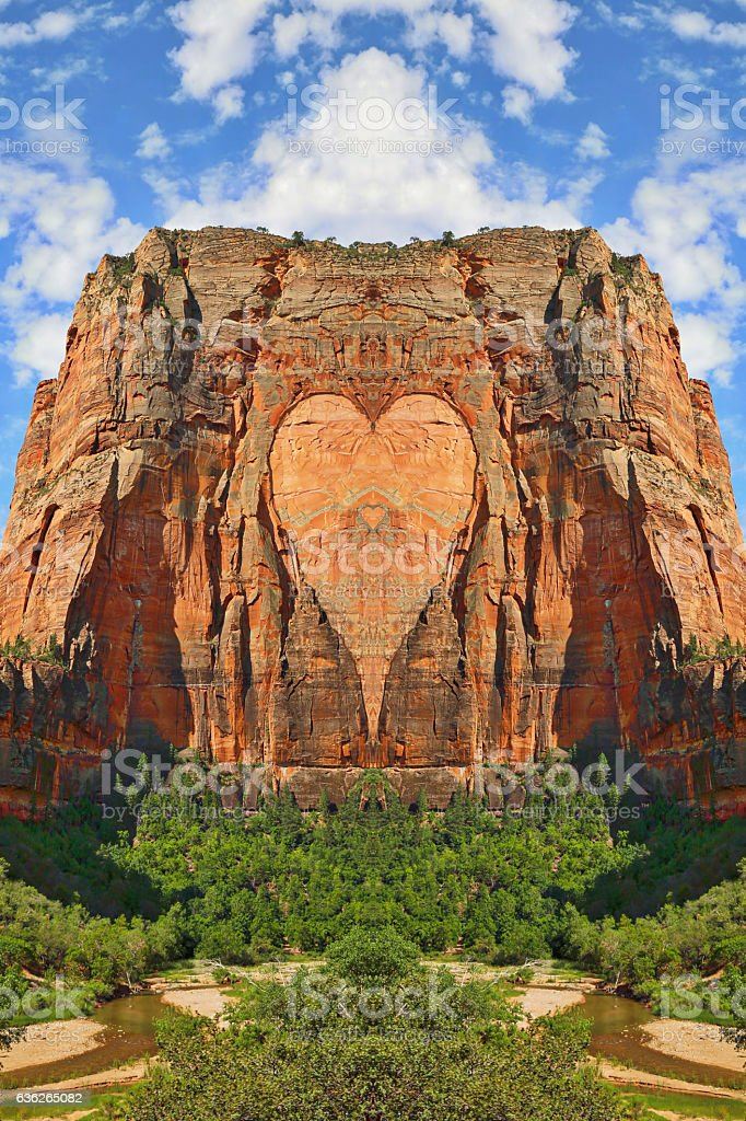 I Love Zion National Park! And I Love Utah! stock photo