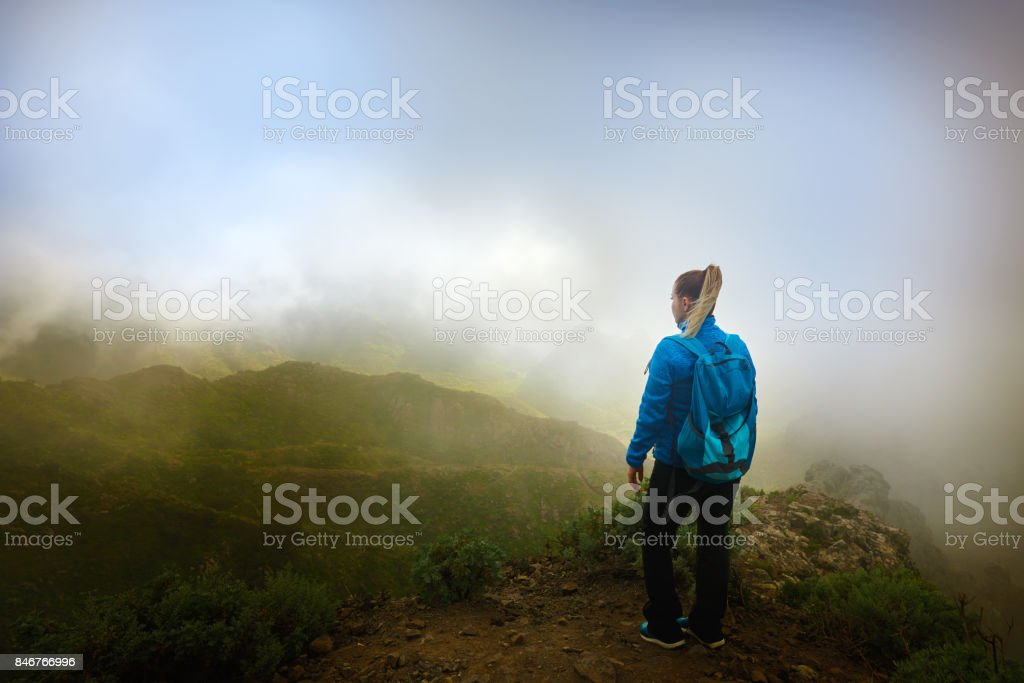 lovely adventure in Tenerife mountains stock photo