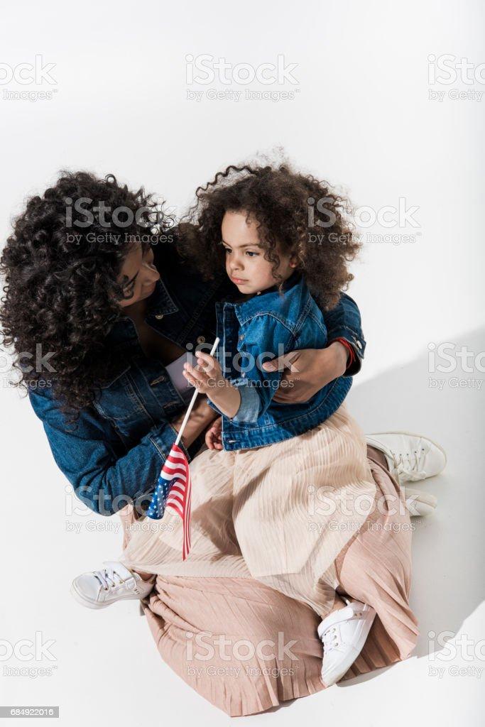 Schöne afrikanische amerikanische Familie Lizenzfreies stock-foto