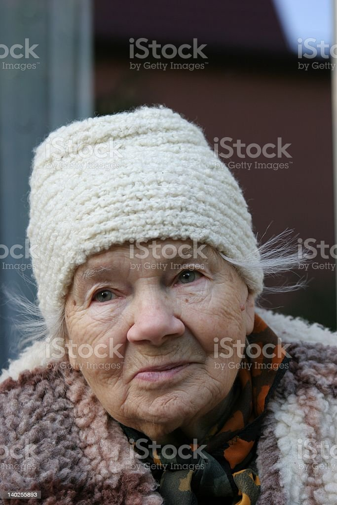 Lovely and sweet Great-Grandmother royalty-free stock photo