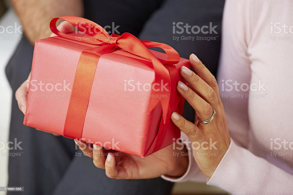 Lovely anniversary present royalty-free stock photo