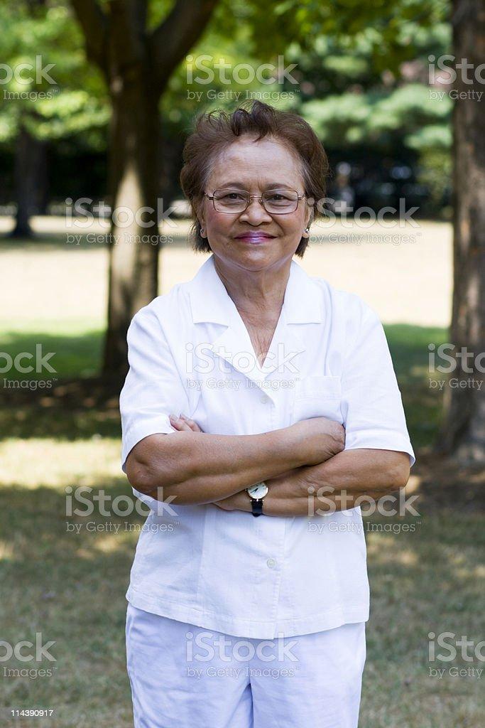 Lovely Asian Senior Citizen royalty-free stock photo