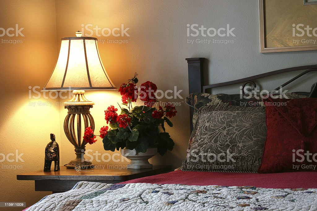 Lovely Bedroom Setting royalty-free stock photo