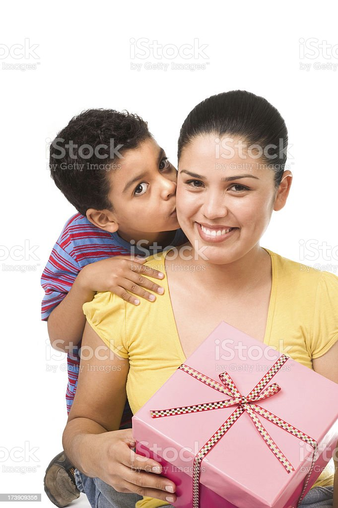 Lovely boy whit his mother royalty-free stock photo