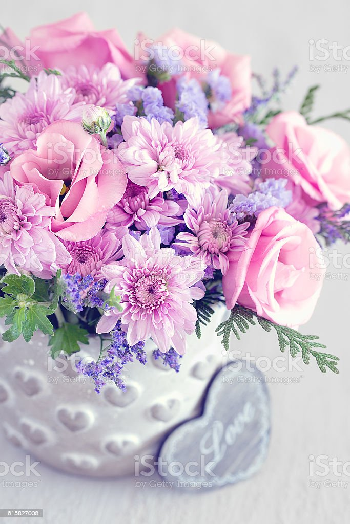 Lovely bunch of flowers stock photo