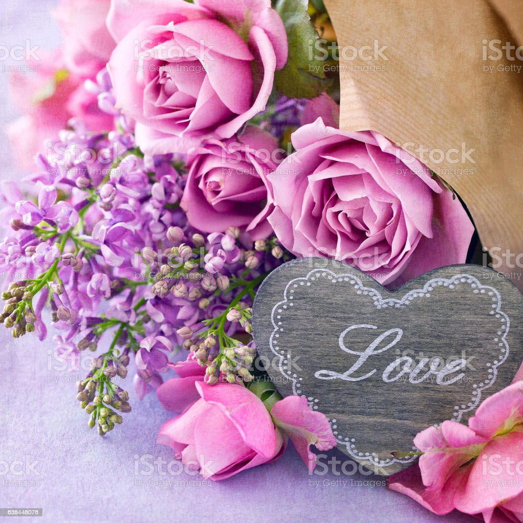 Lovely bunch of flowers . stock photo