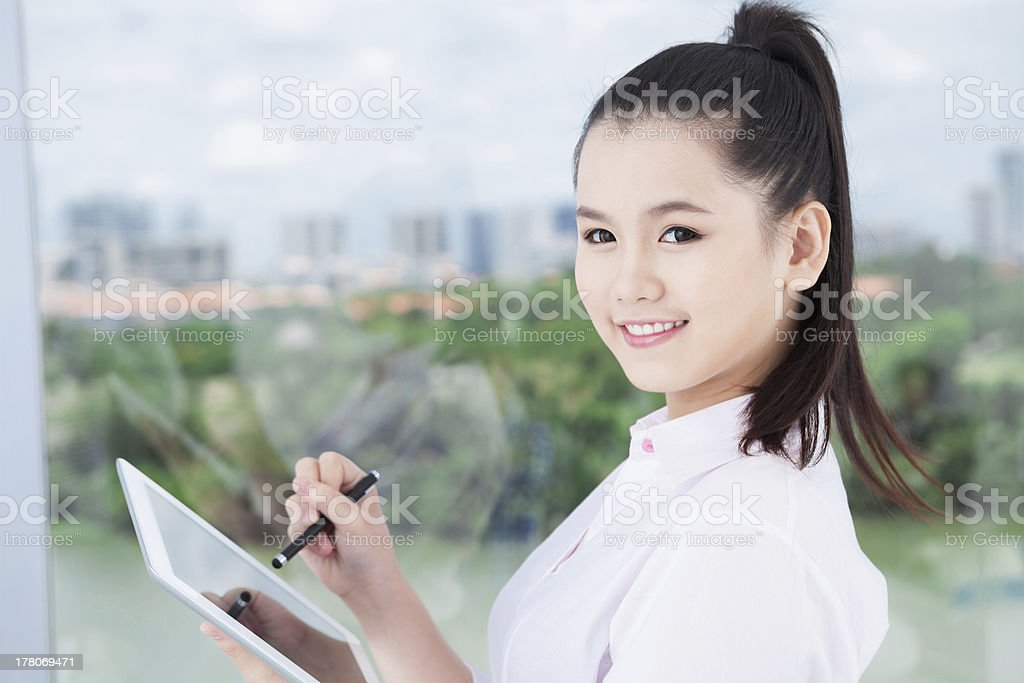 Lovely businesswoman royalty-free stock photo