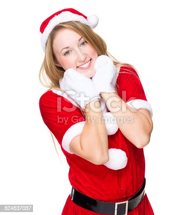 istock Lovely Christmas lady 524537037