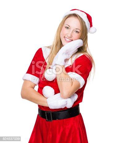 istock Lovely Christmas lady portrait 524537039