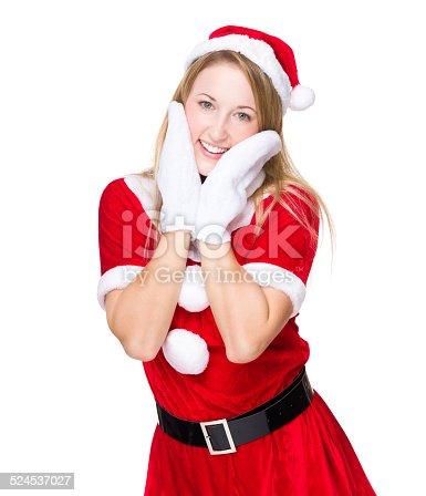 istock Lovely Christmas woman 524537027