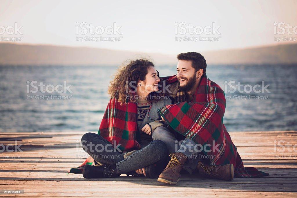 Schönes paar und süßen November – Foto