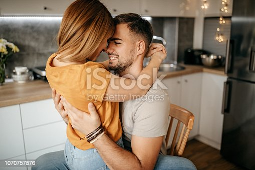istock Lovely couple having their moment 1070757876