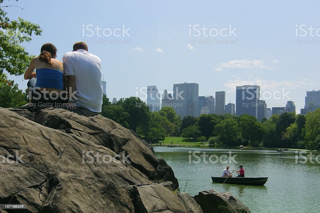 Lovely couple in Central Park stock photo