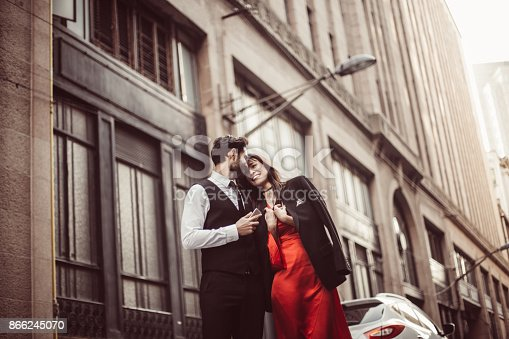 istock Lovely couple in love 866245070
