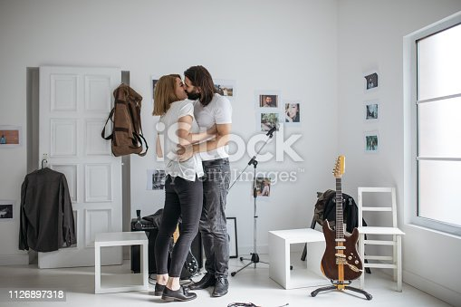 849355030istockphoto Lovely couple kissing 1126897318