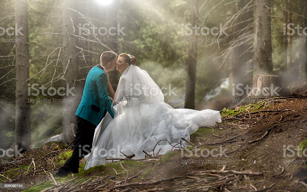 young couple in love, kissing and being affectionate, spending time...