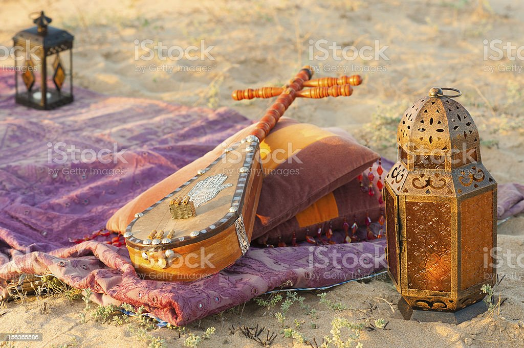 Lovely desert still life in late afternoon light stock photo