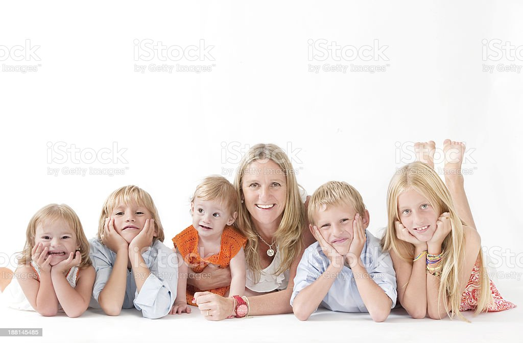 Lovely Family. royalty-free stock photo