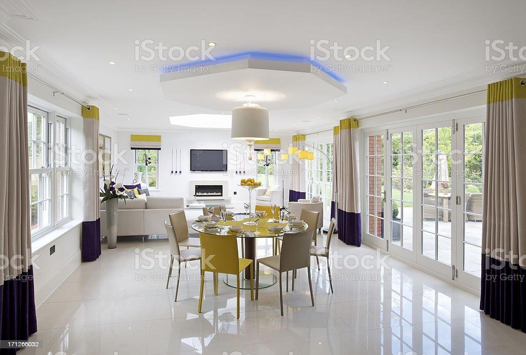 lovely family room stock photo