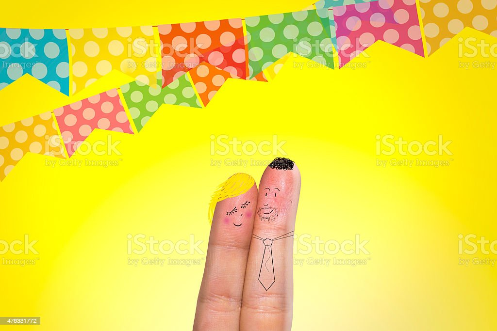 Adorável dedos para brasileiros Festival de junho - foto de acervo