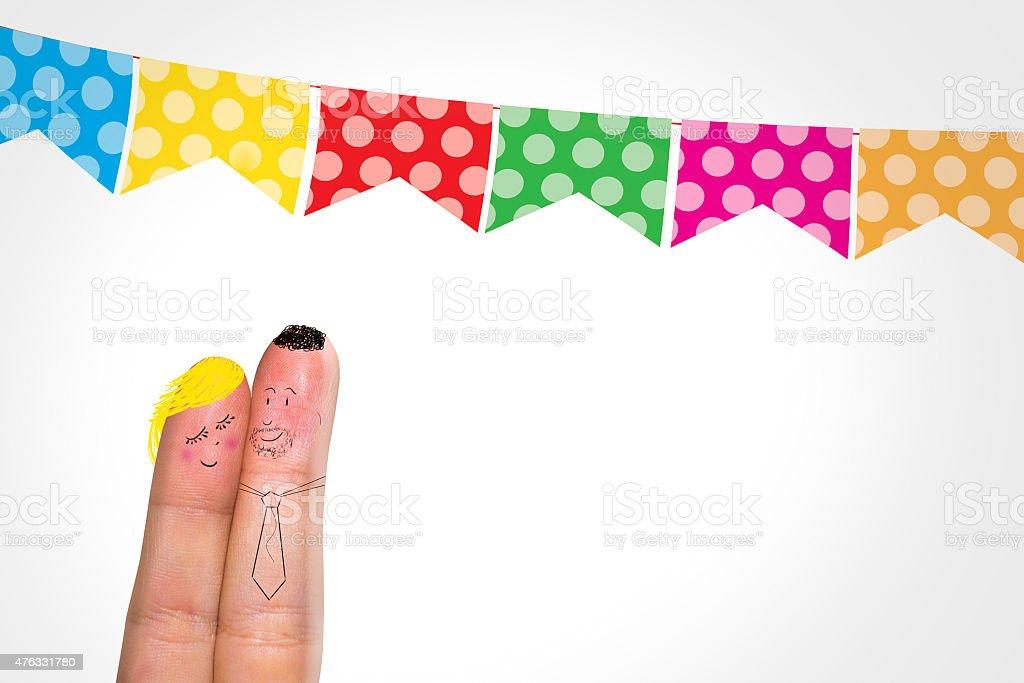 Lovely fingers for June Brazilian Festival stock photo