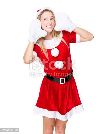 istock Lovely girl pretend to hear something 524536101
