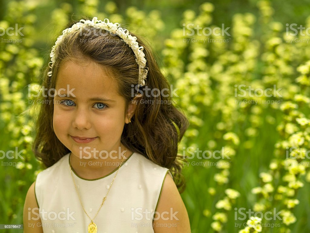 Lovely girl with awesome blue eyes royalty-free stock photo