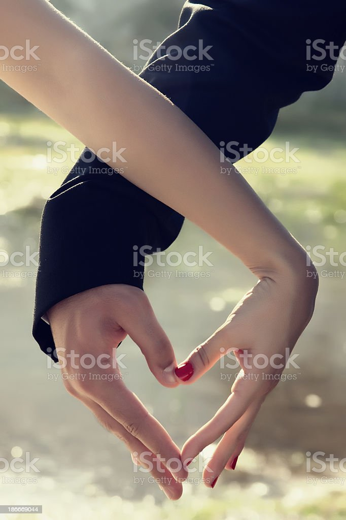 lovely heart stock photo