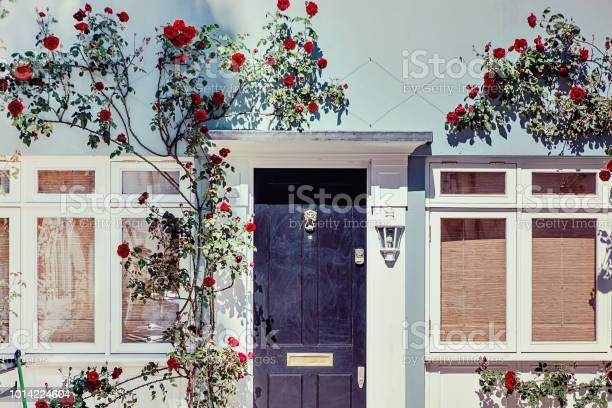 Lovely house facade with blue wall and red roses in notting hill picture id1014224604?b=1&k=6&m=1014224604&s=612x612&h=3nb rgr5aenl8jqi5ug 7wm5fjiw9or2k n2rd8esgy=