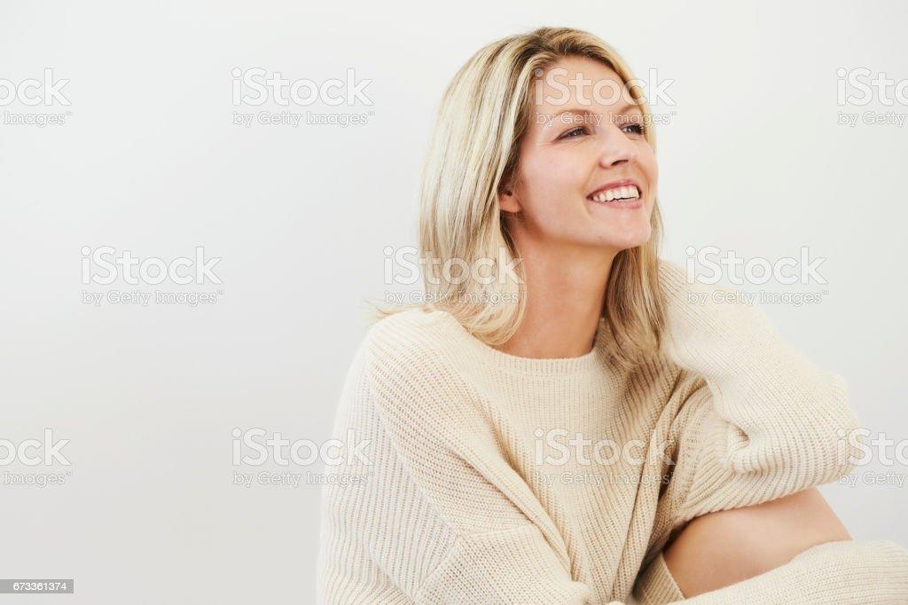 Lovely lady stock photo