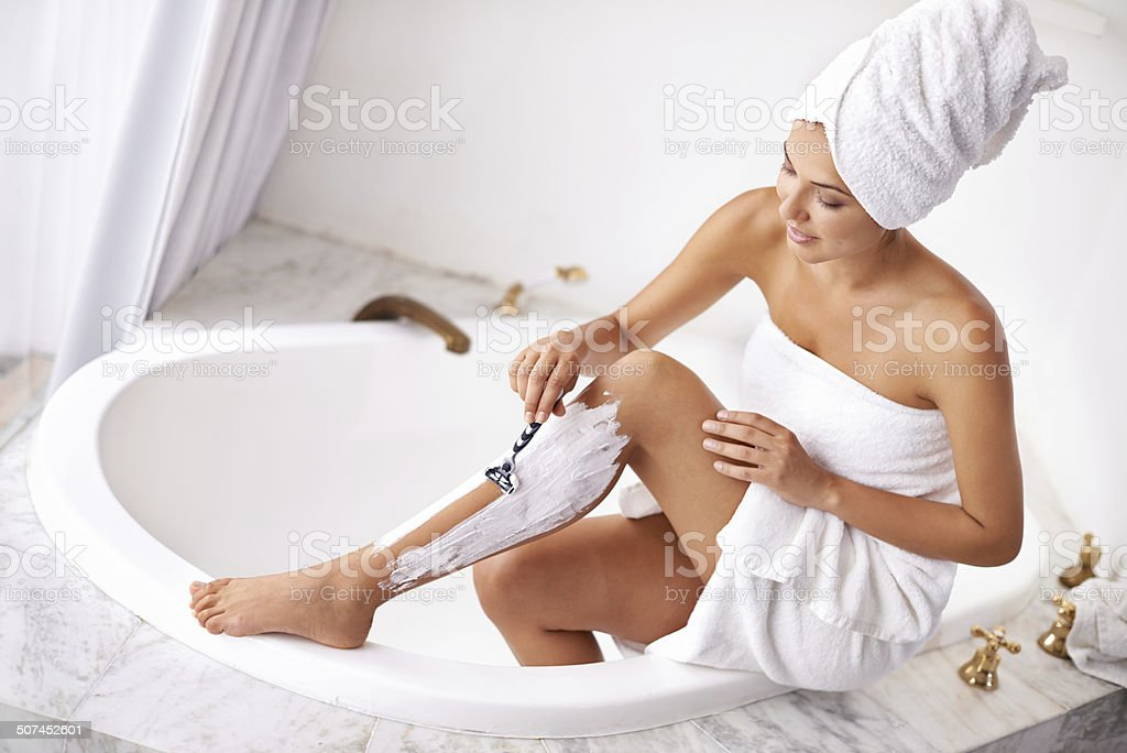 Lovely legs in the making stock photo
