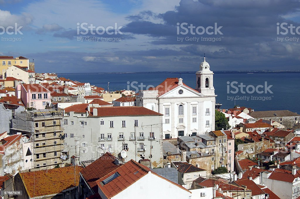 Lovely Lisbon view royalty-free stock photo