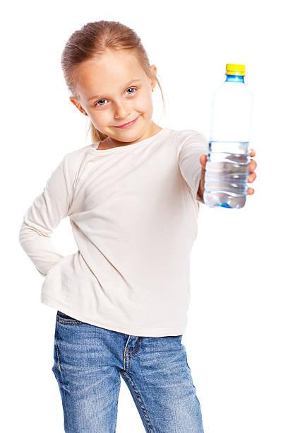 Adorable petite fille isolé sur blanc - Photo