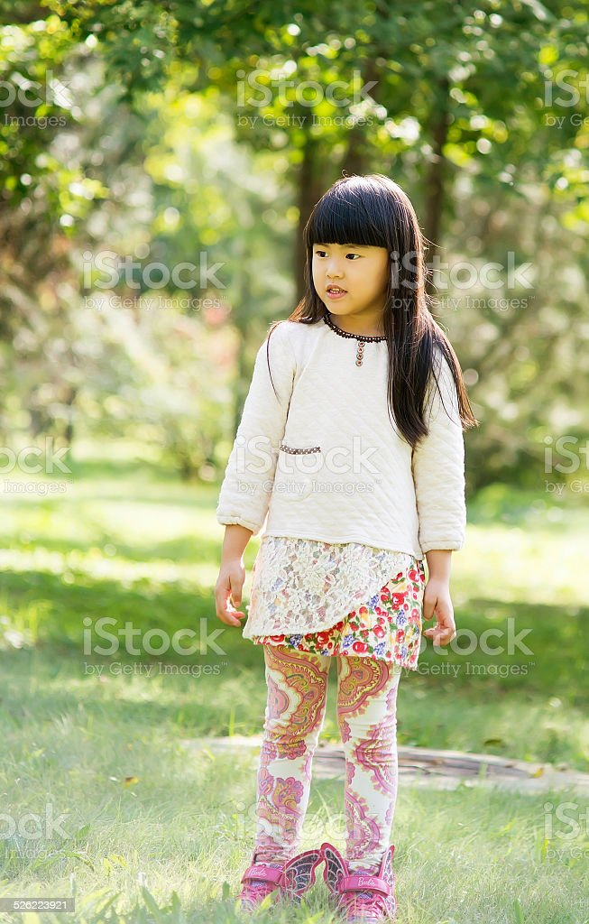 Lovely little girl stock photo