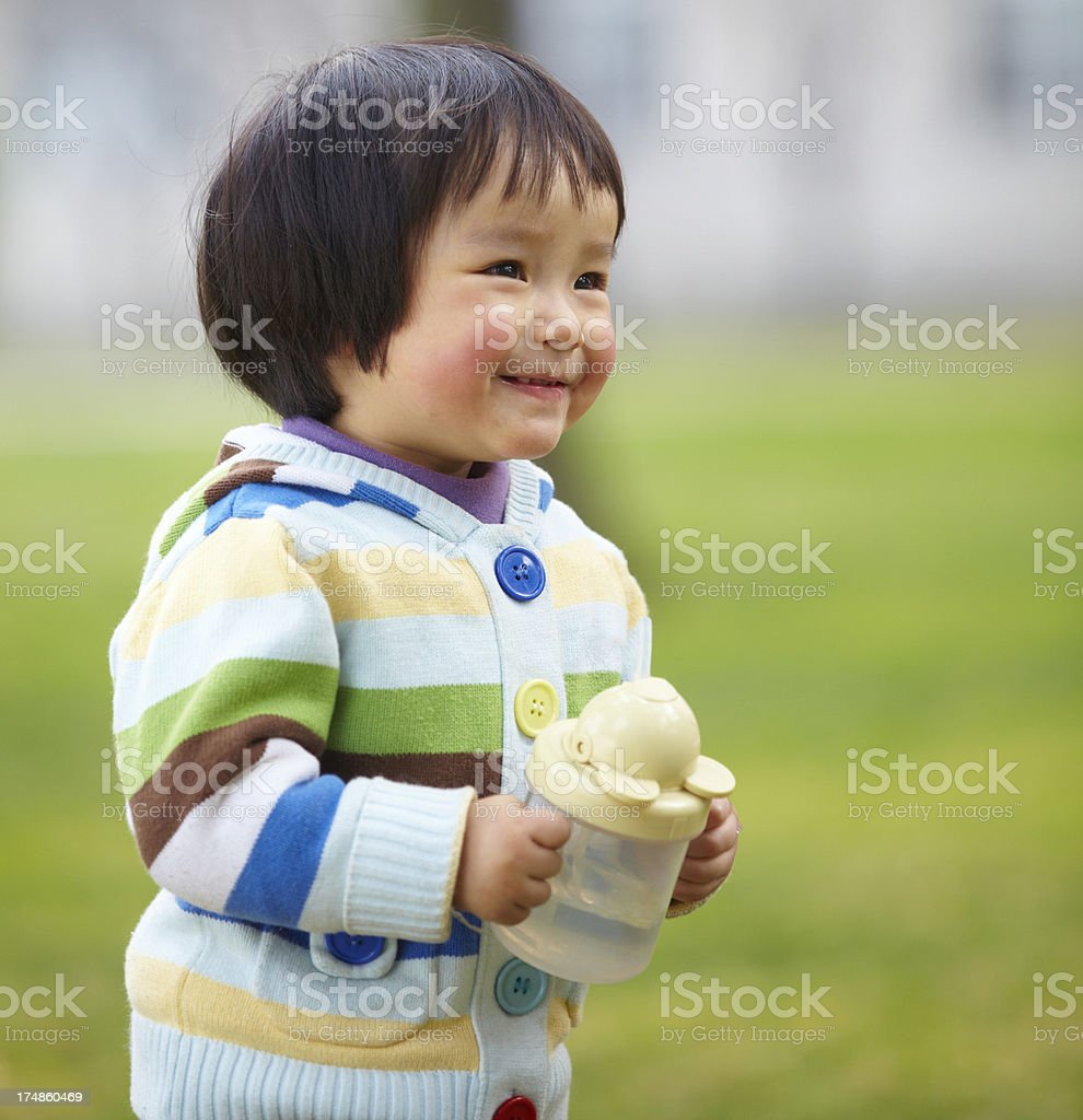 lovely little girl smile royalty-free stock photo