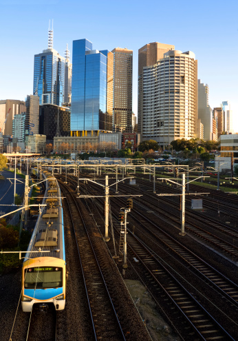 lovely morning with a train heading out of Melbourne