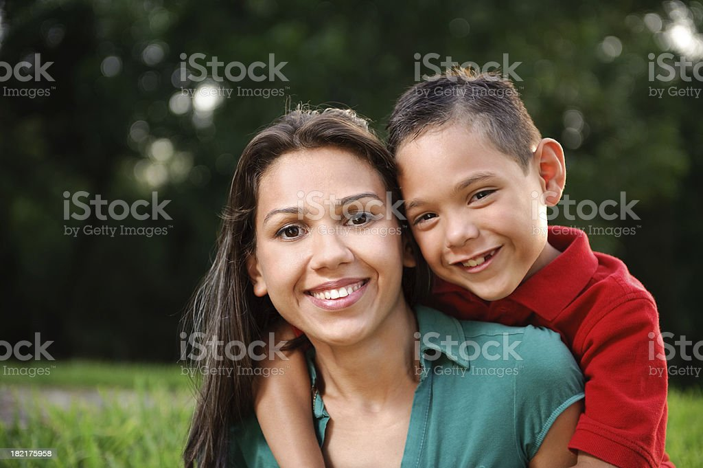 Lovely mother and son stock photo