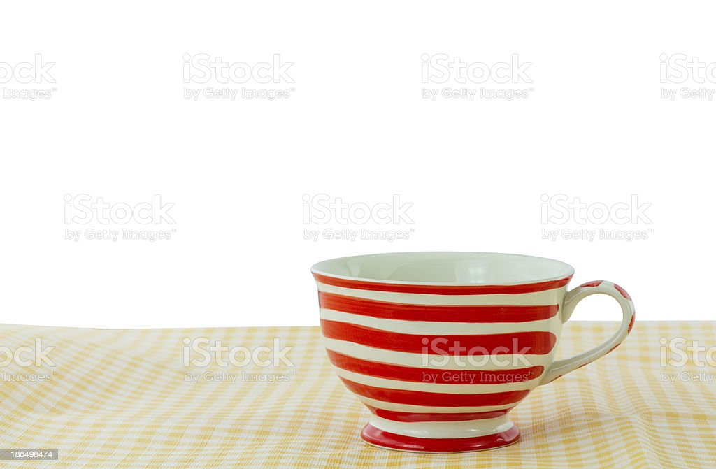 Lovely mug with red line royalty-free stock photo