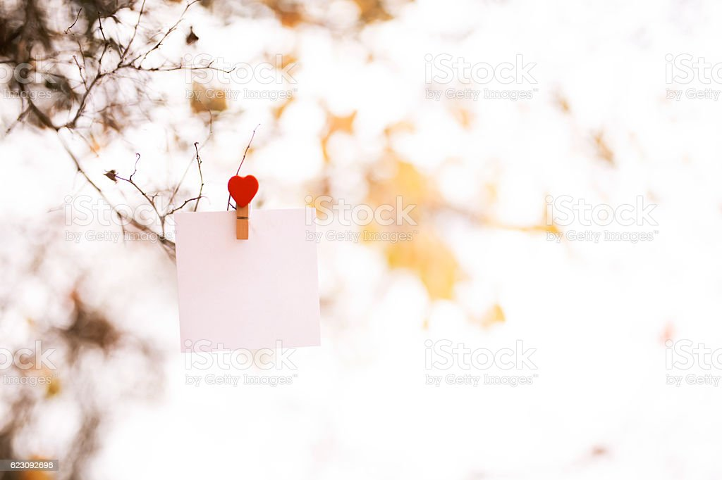 Lovely Note Card stock photo