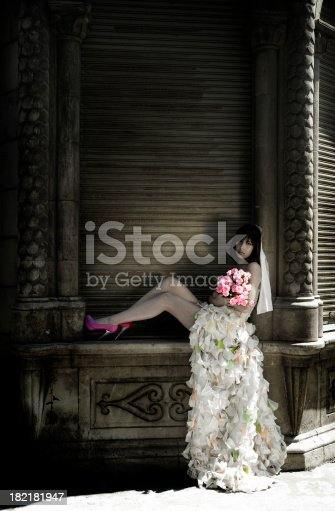 578573556istockphoto Lovely old style bride 182181947