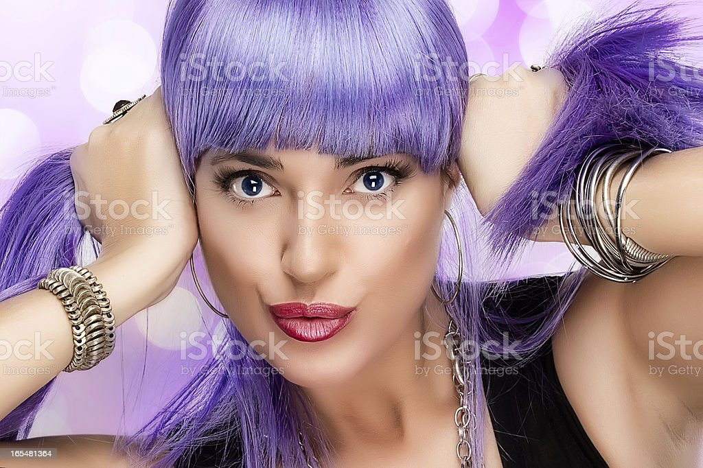 Lovely Party Girl. Expressing Happiness royalty-free stock photo