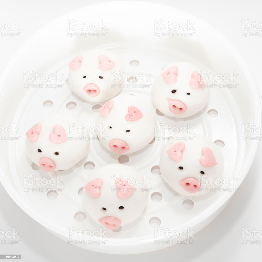 lovely pig buns royalty-free stock photo