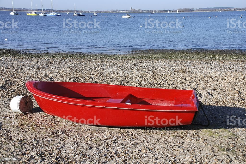 Lovely Red Boat royalty-free stock photo
