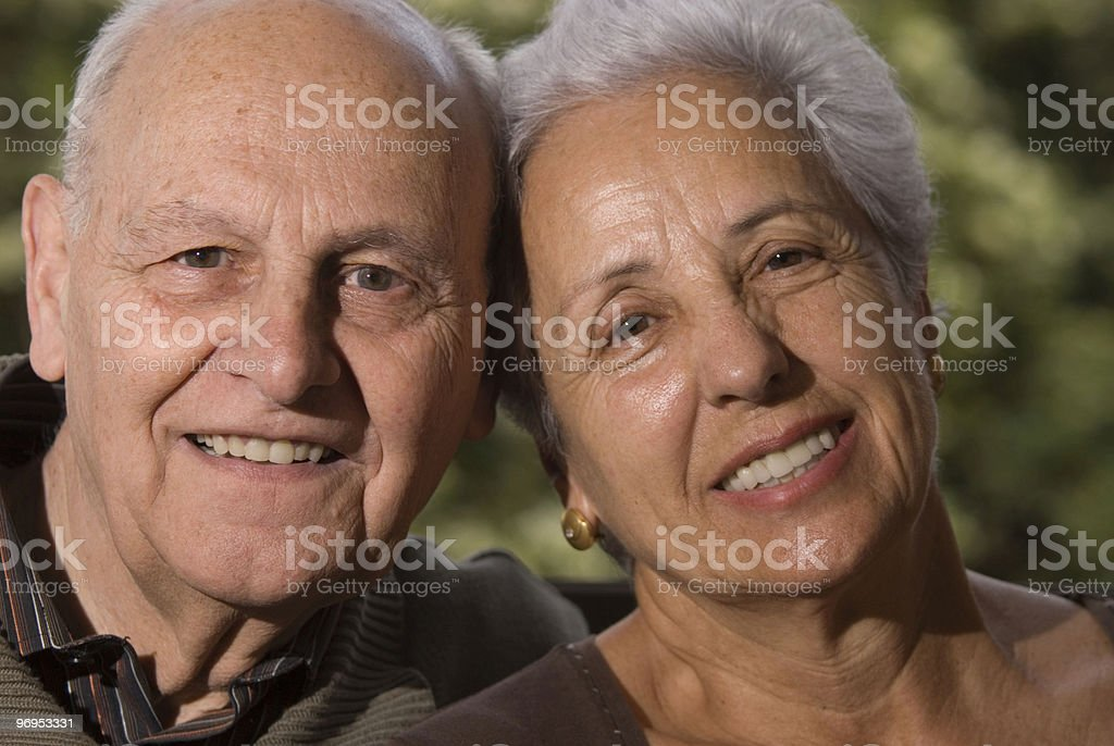 Lovely senior couple royalty-free stock photo