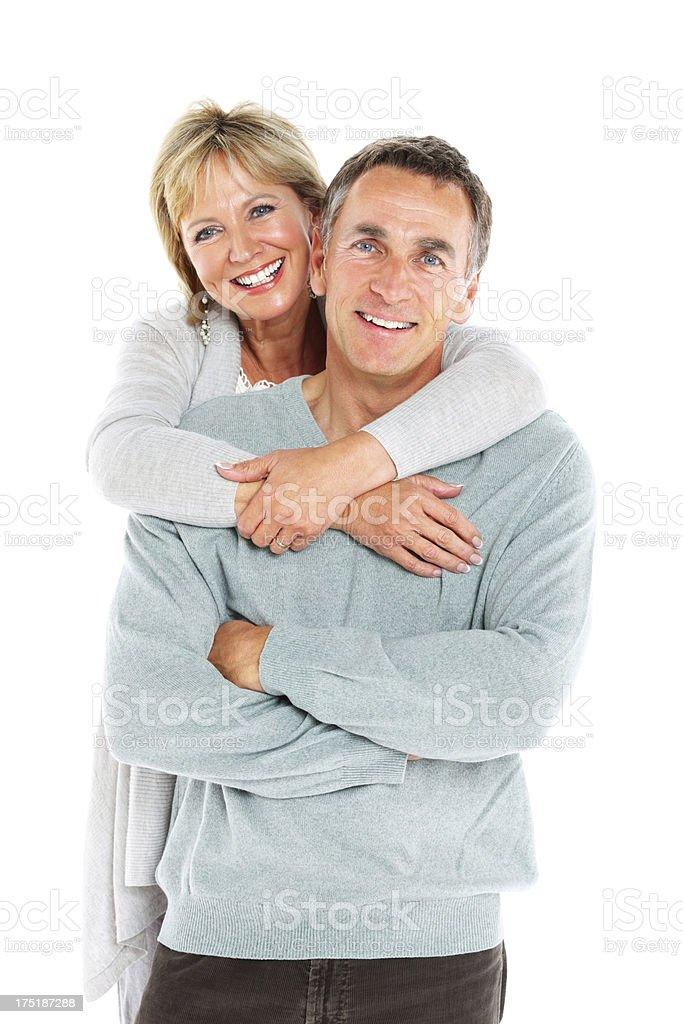 Schönes altes Paar zusammen auf Weiß – Foto