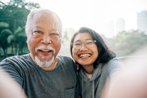 Senior healthy living lifestyle