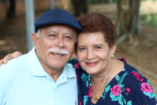 Lovely senior Hispanic couple close up Lovely senior Hispanic couple close up. citizenship stock pictures, royalty-free photos & images