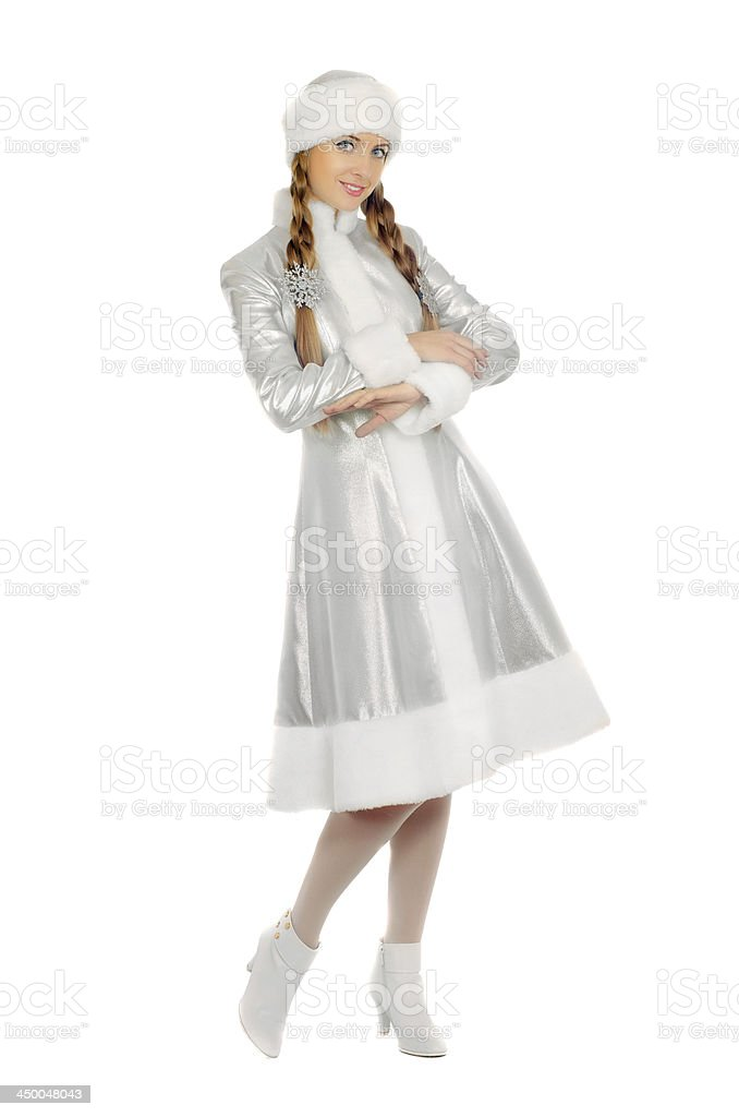Lovely smiling Snow Maiden royalty-free stock photo