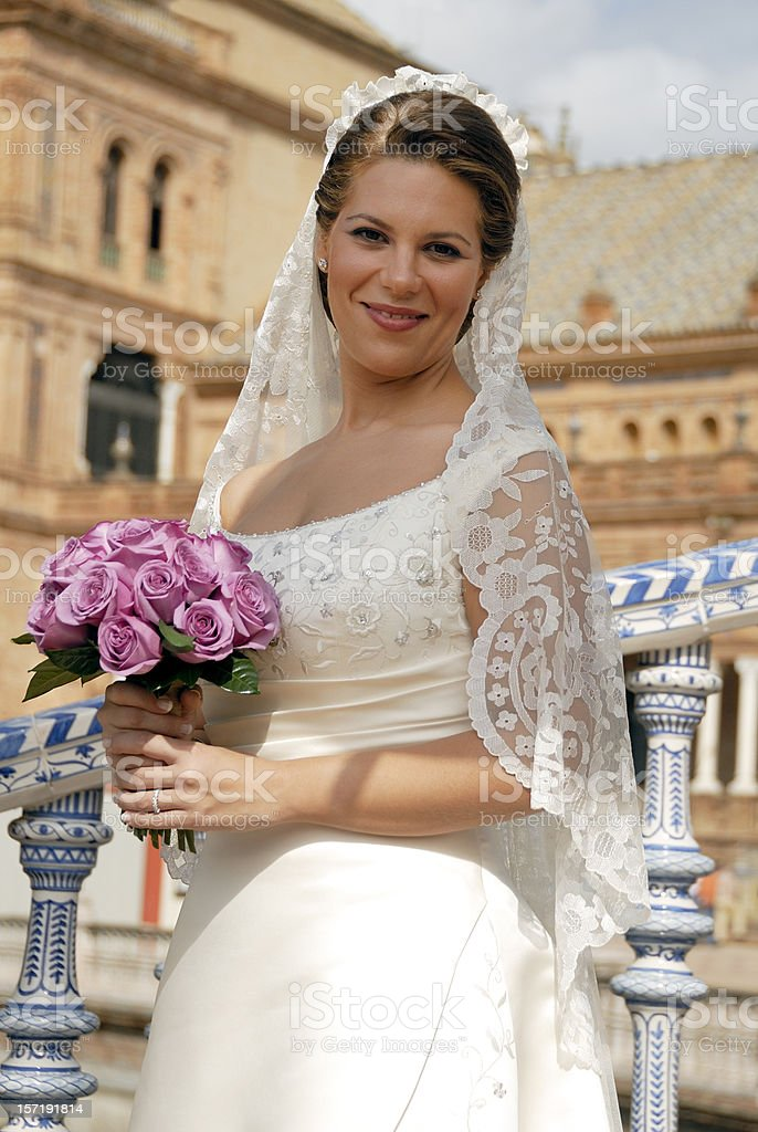Lovely Spanish bride royalty-free stock photo