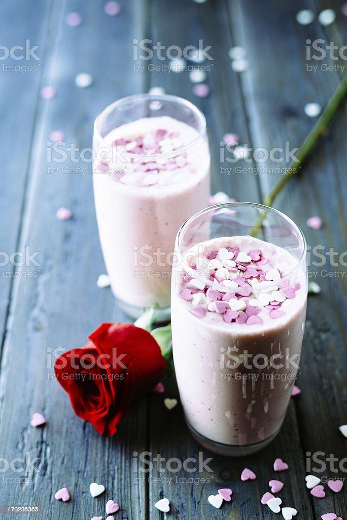 Schöne Erdbeere Milchshakes – Foto